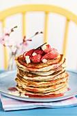 Strawberry white chocolate pancakes