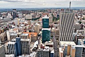 An aerial view of Johannesburg, South Africa