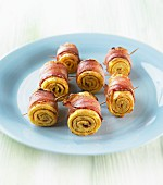 Egg roulade with bacon