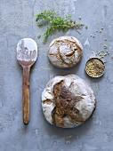 Brot, Mehl und Gewürze