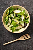 Rocket salad with pears and parmesan