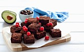 Avocado - date brownies