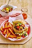 Turkey Burgers with Fresh Corn Salsa