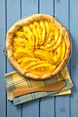 Mango pie with maracuja