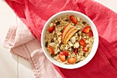 Bircher müesli with apple and strawberries