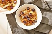 Porridge with blueberries