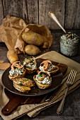 Ofenkartoffeln mit Pilzcreme