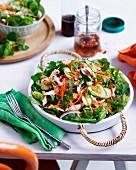 Hähnchensalat mit Gurken, Möhren und Chilidressing (Vietnam)