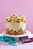 Froot Loop Celebration Cake