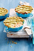 Creamy Salmon and Leek Pot Pies
