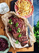 Guinness and lime rump steak with onion marmalade