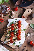 Chicken And Tomato Shishkebabs with herbs