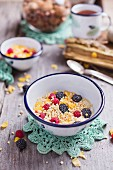 Gluten-free granola with fresh berries