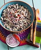 Rice salad with black beans (Mexico)