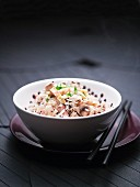 Wild rice with ham and mushrooms (China)