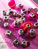Schokoladen-Kokos-Trüffelpralinen zum Valentinstag