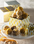 Chocolate truffles for gifting (Christmas)