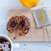 A chocolate orange cupcake