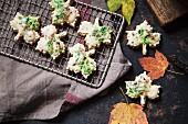 Herbstliche Ahornkekse mit Ahornsirup