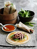Peking duck with chilli sauce (China)
