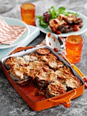 Aubergine and tomato bake with basil (Italy)