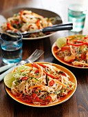 Noodle salad with shrimps and chilli (Asia)