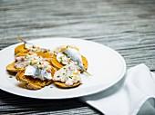 Bruschetta with mackerel