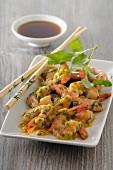 Shrimp ceviche with passion fruit sauce