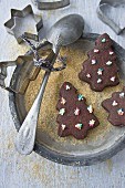Christmas tree chocolate cookies for Christmas