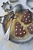 Christmas tree chocolate cookies for Christmas