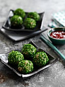Pork balls with chives (China)