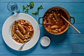 Stew with beans and sausages