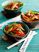 Yakitori chicken stir fry with vegetables (Asia)