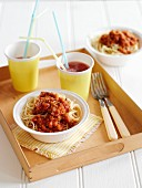 Spaghetti with vegetarian bolognese
