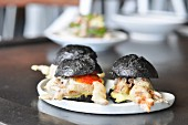Black sliders with tempura