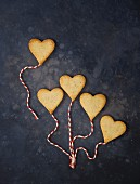 Heart-shaped butter biscuits for Valentine's Day