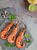Prawns with sea salt and parsley