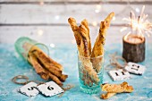 Cheese straws for New Year's Eve