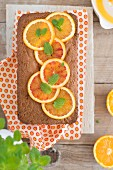 Kastenförmiger Orangenkuchen (Aufsicht)