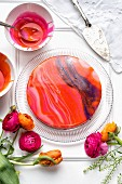 A mirror glaze cheesecake for springtime