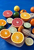 A variety of citrus fruit on board