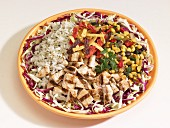 Southwest salad with chicken and rice (USA)