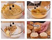 Cupcakes mit Erdnuss-Frischkäse-Creme zubereiten
