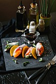 Rice paper rolls with colourful vegetables