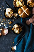 Homemade hot cross bun ice cream
