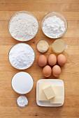 Ingredients for lemon cake