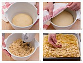 How to bake an apple crumble cake in a tray
