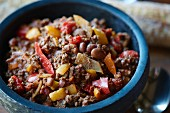 Chilli con carne with venison