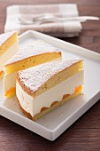 Cream cheese cake with tinned mandarins
