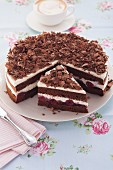 Quick Black Forest cherry cake